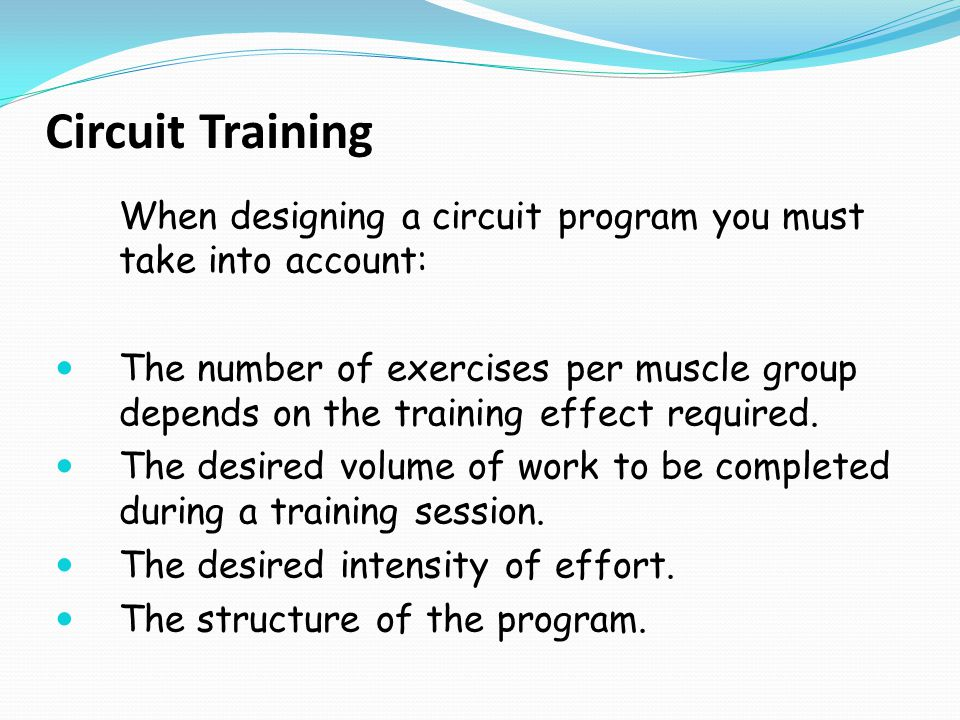 Some Points to Take into Account in Training Each Muscle Group