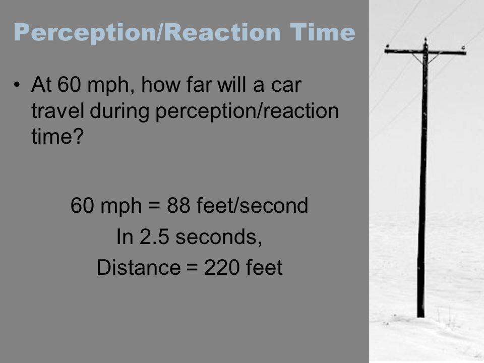 Perception/Reaction Time