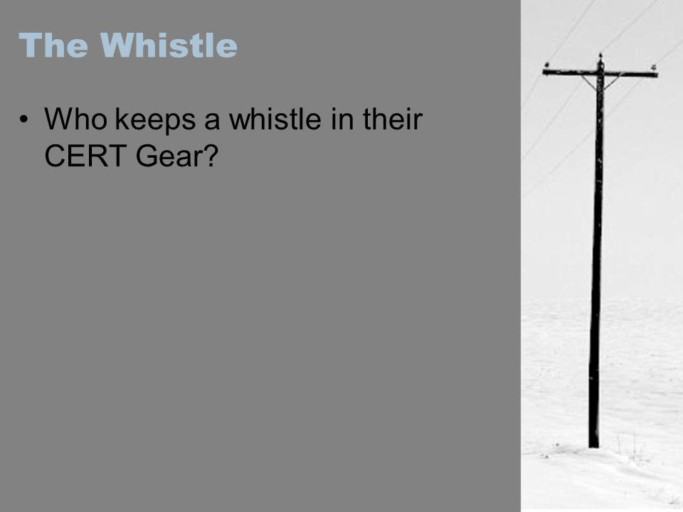 The Whistle Who keeps a whistle in their CERT Gear