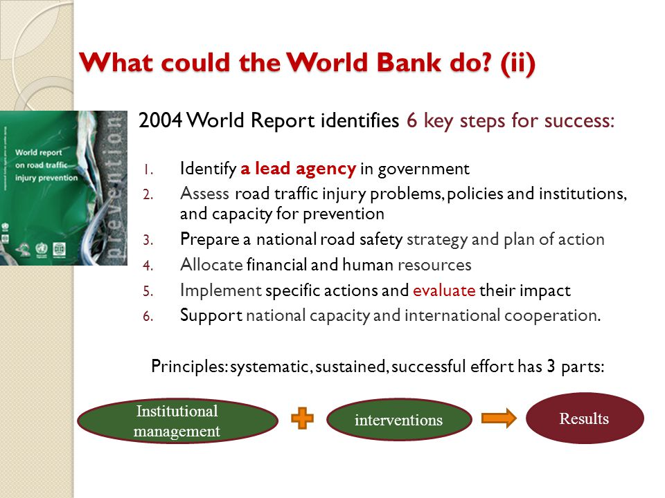 What could the World Bank do (ii)