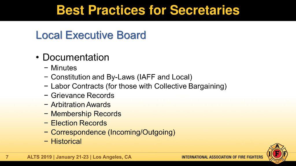 Best Practices for Secretaries - ppt download