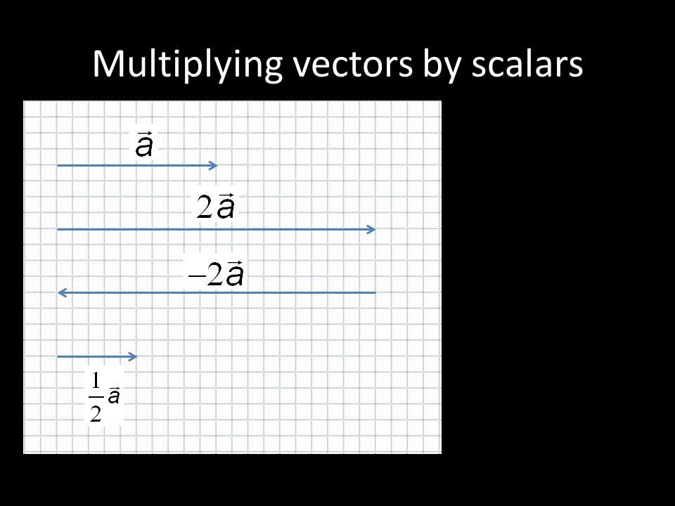 Multiplying vectors by scalars