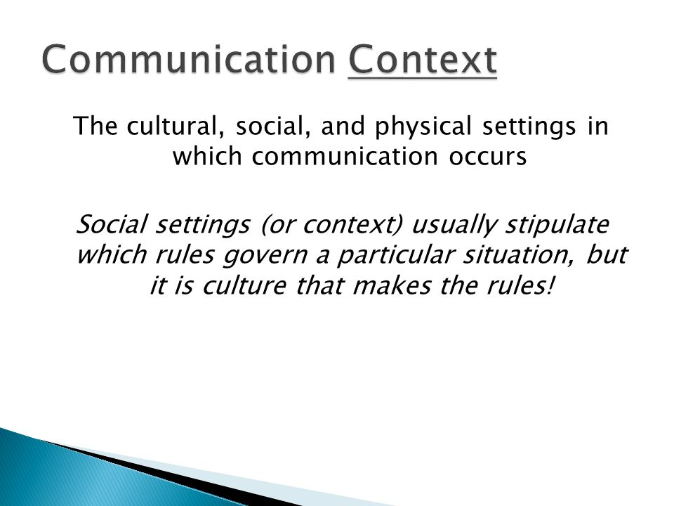 Communication Context