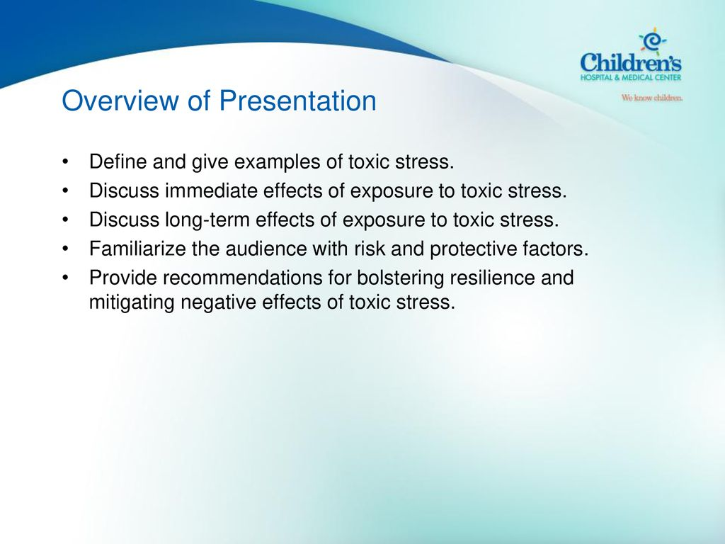 Exposure To Toxic Stress In Childhood >> Toxic Stress In Children And Adolescents Ppt Download