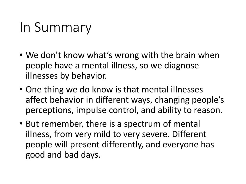 Major Mental Illness Overview - ppt download