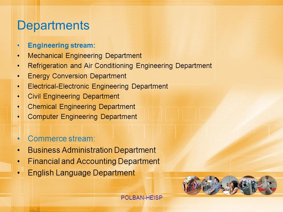Departments Commerce stream: Business Administration Department