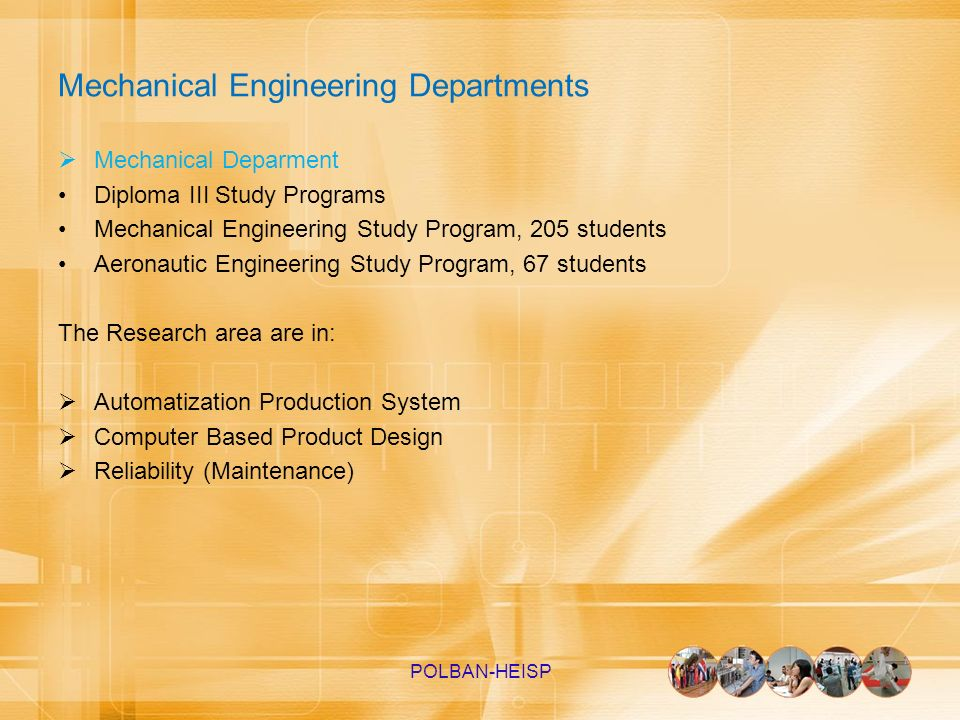 Mechanical Engineering Departments