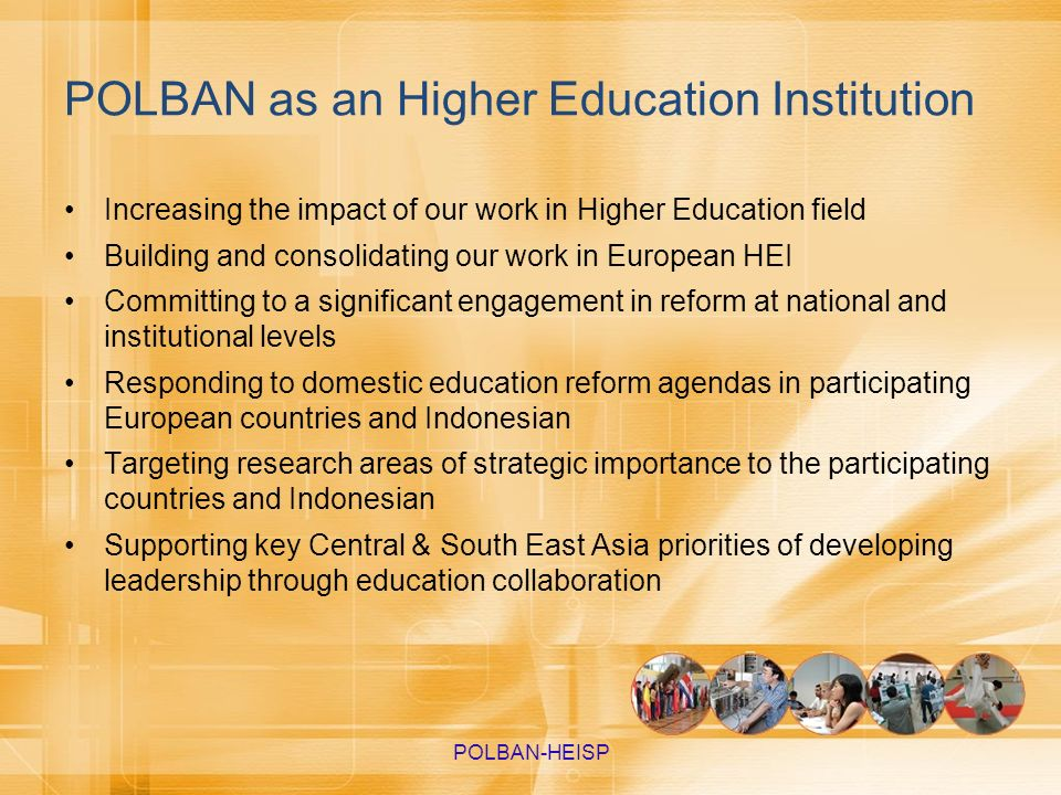 POLBAN as an Higher Education Institution