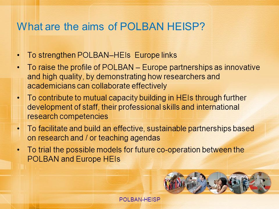 What are the aims of POLBAN HEISP
