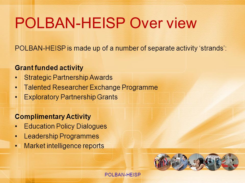 POLBAN-HEISP Over view