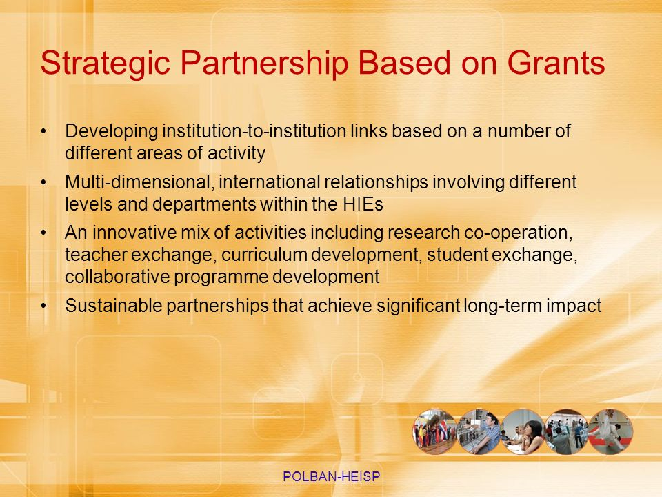 Strategic Partnership Based on Grants
