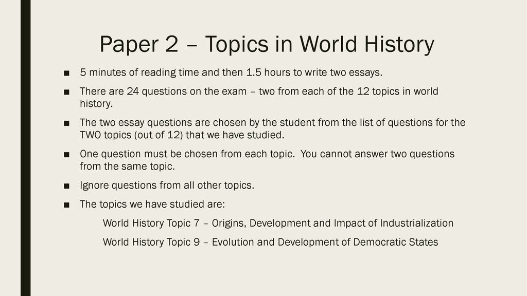 IB history exam overview - ppt download