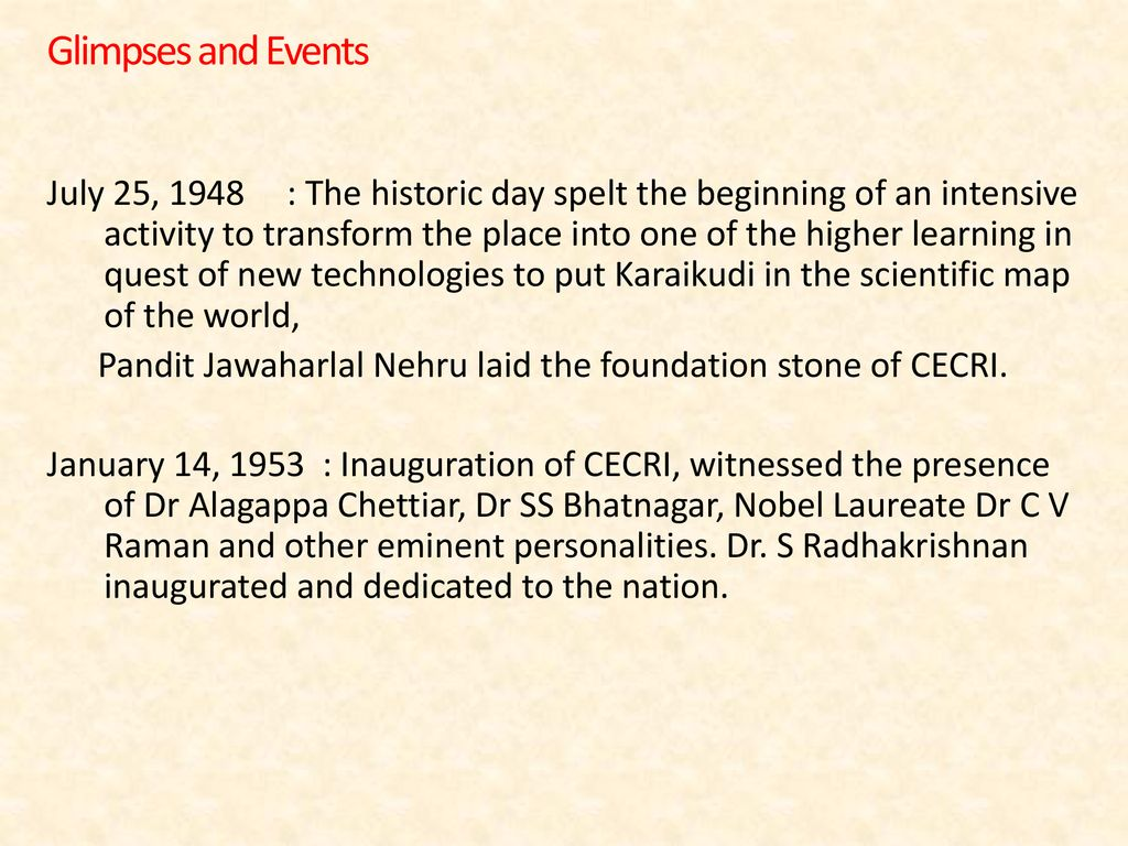 CSIR-CENTRAL ELECTROCHEMICAL RESEARCH INSTITUTE KARAIKUDI - ppt download