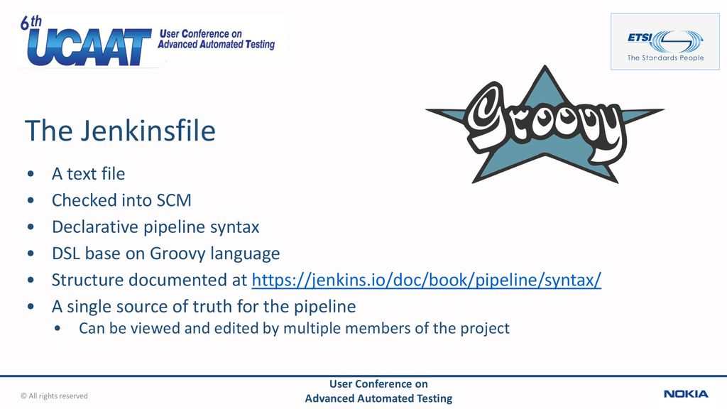Jenkins pipelines Presented by Pierre-Henri Symoneaux - ppt