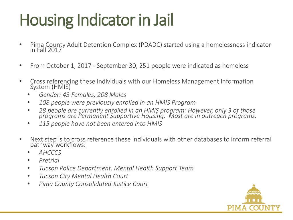 Pima County, Arizona Housing First Matters – Looking at