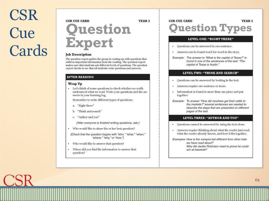 Agenda Quiz #2 CSR workshop Discussion of upcoming