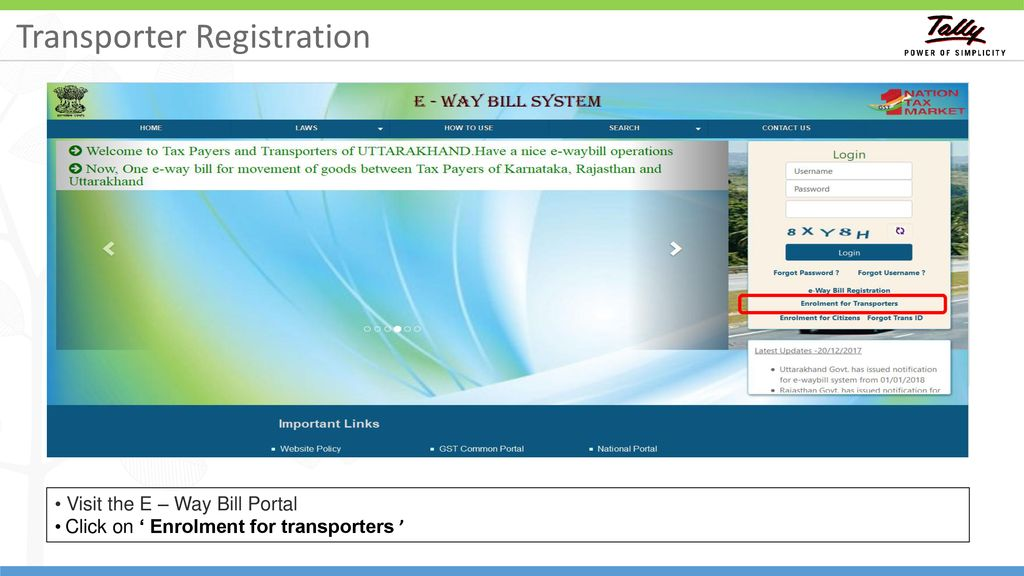 Electronic Way Bill  - ppt download