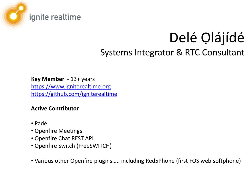Unified Real-Time Communications with Pàdé - ppt download