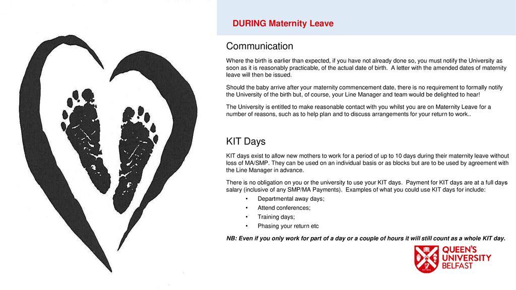 Return From Maternity Leave Letter from slideplayer.com