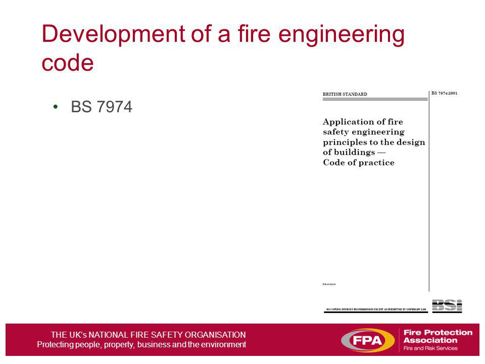 Development of a fire engineering code