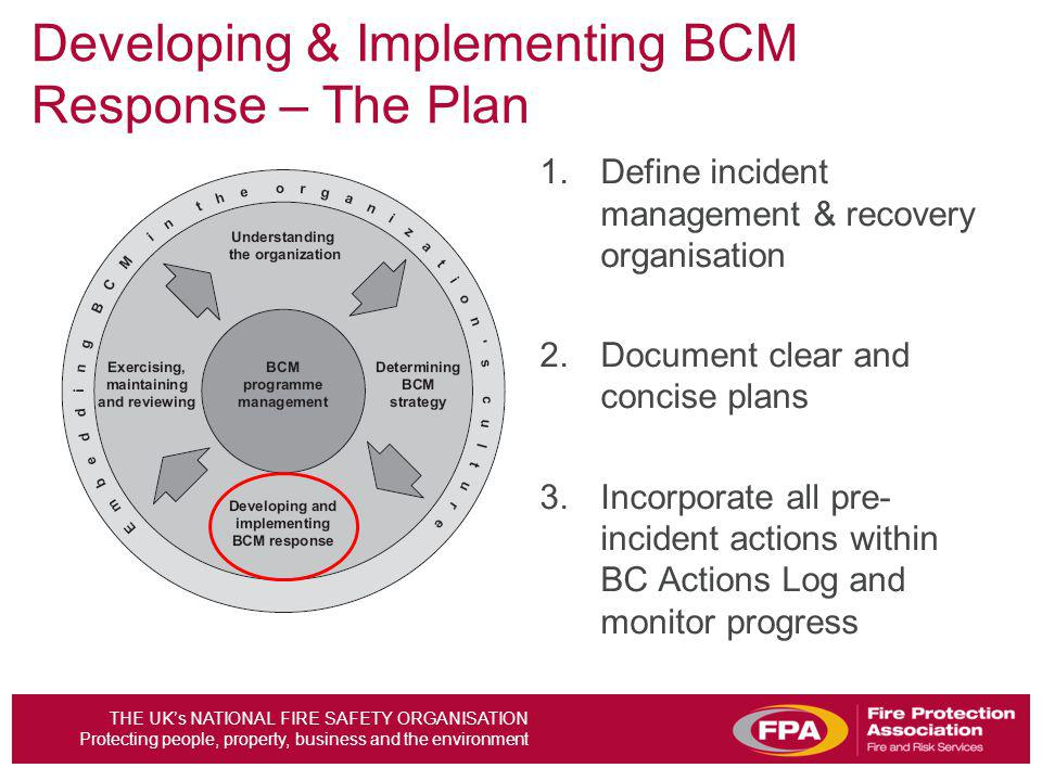 Developing & Implementing BCM Response – The Plan