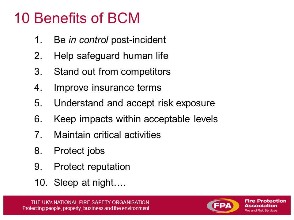 10 Benefits of BCM Be in control post-incident