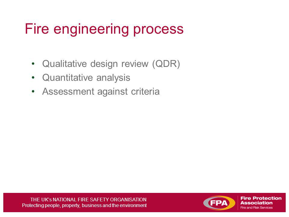 Fire engineering process