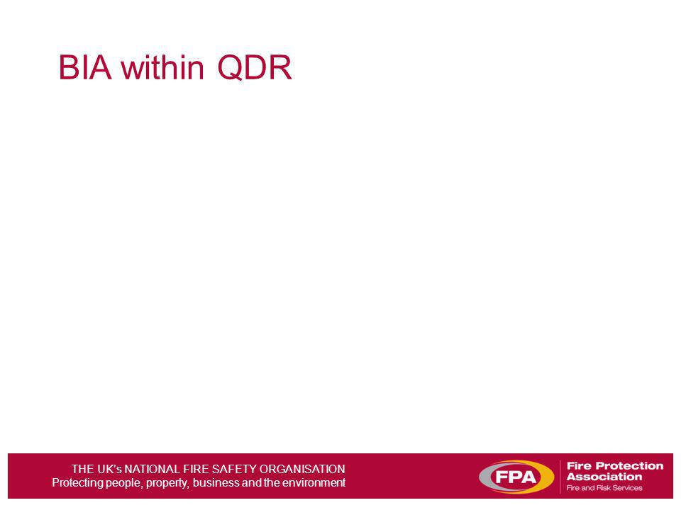 BIA within QDR