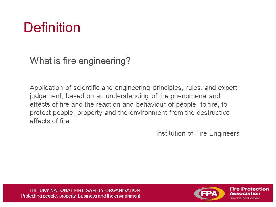 Definition What is fire engineering
