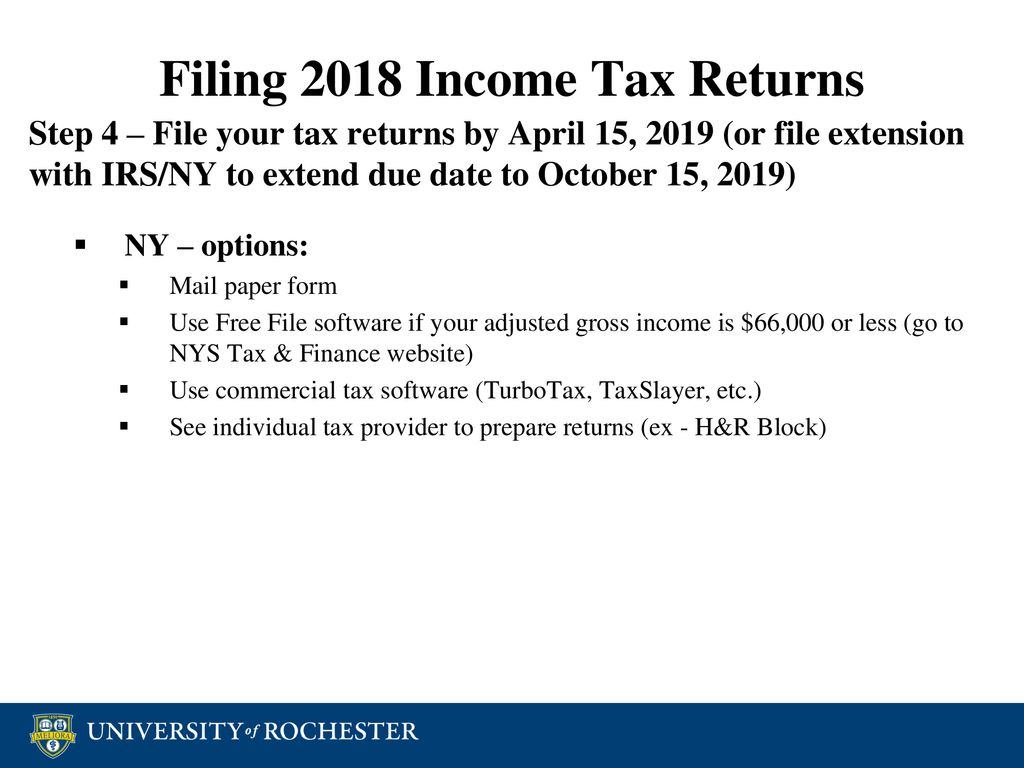 Tax Reporting SMD Graduate Students February 26, 2019 This document