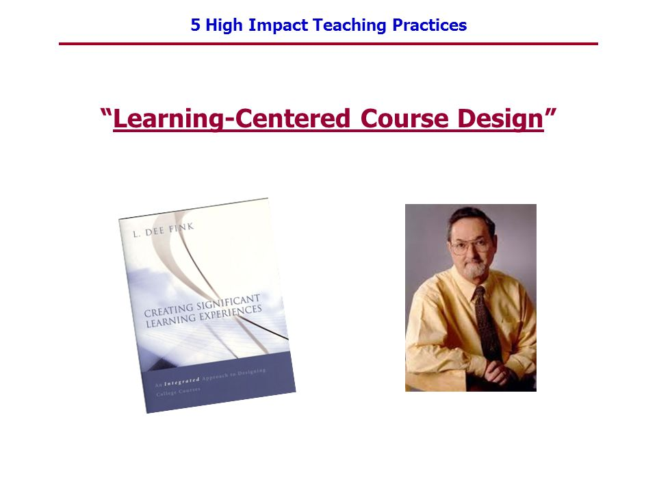 Learning-Centered Course Design