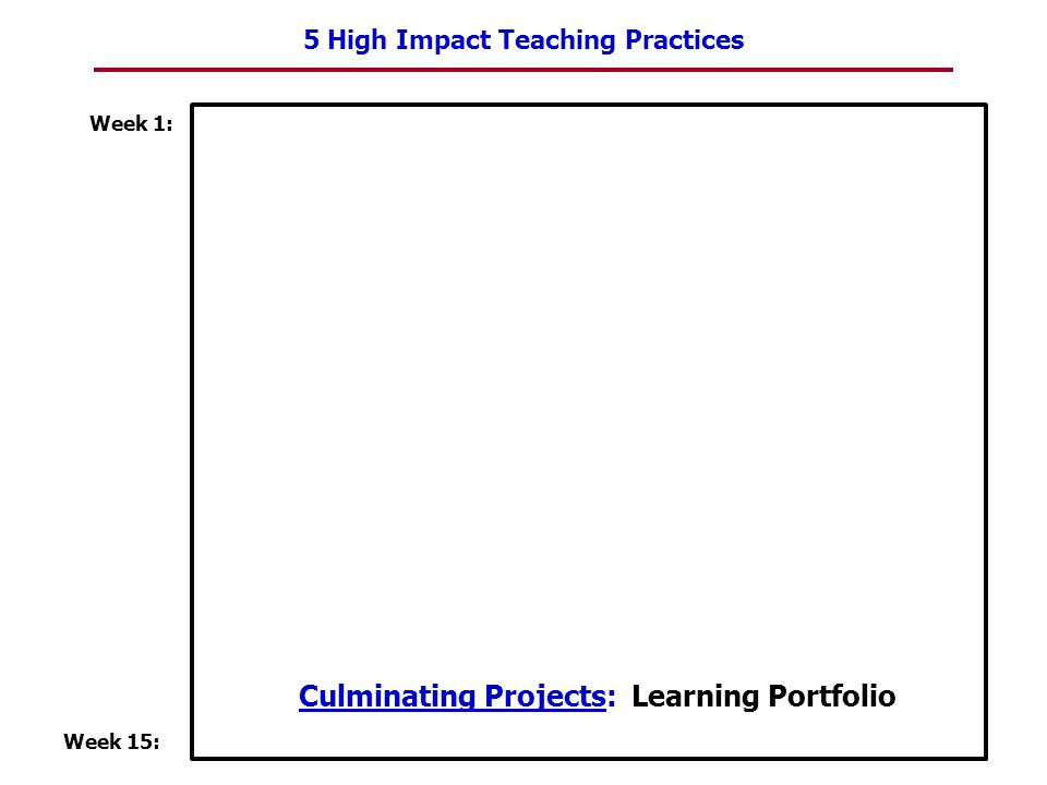 Culminating Projects: Learning Portfolio