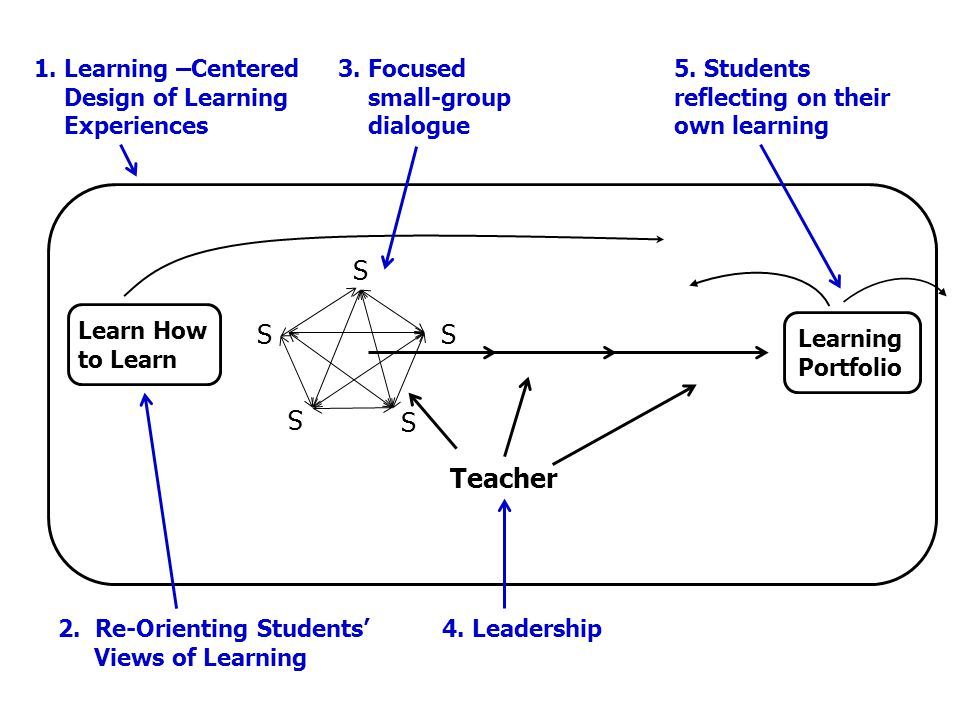 S Teacher 1. Learning –Centered Design of Learning Experiences