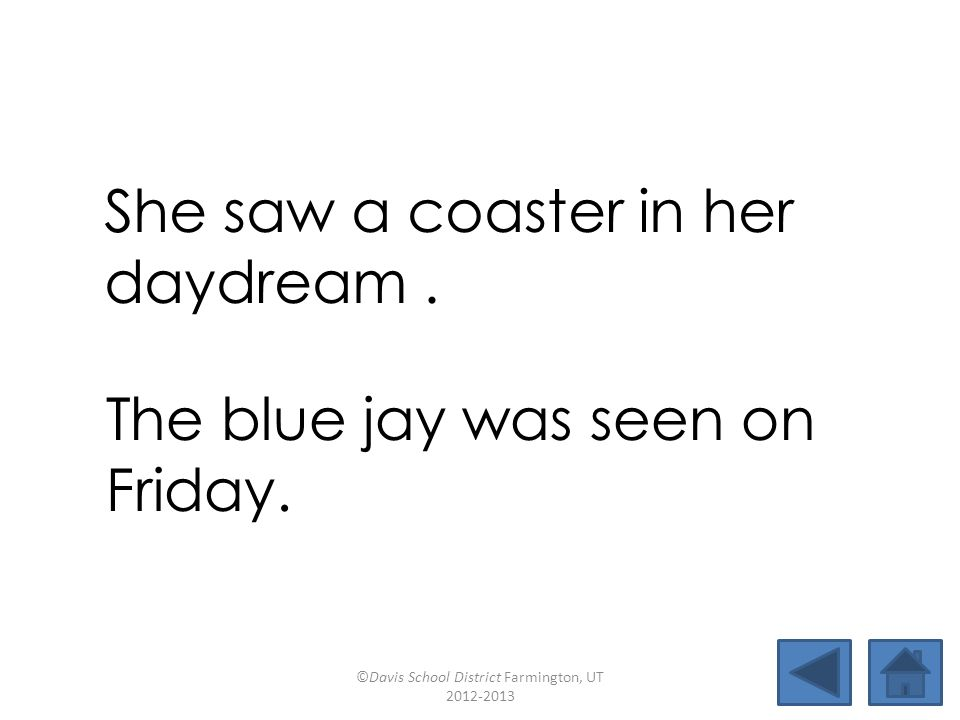 She saw a coaster in her daydream .