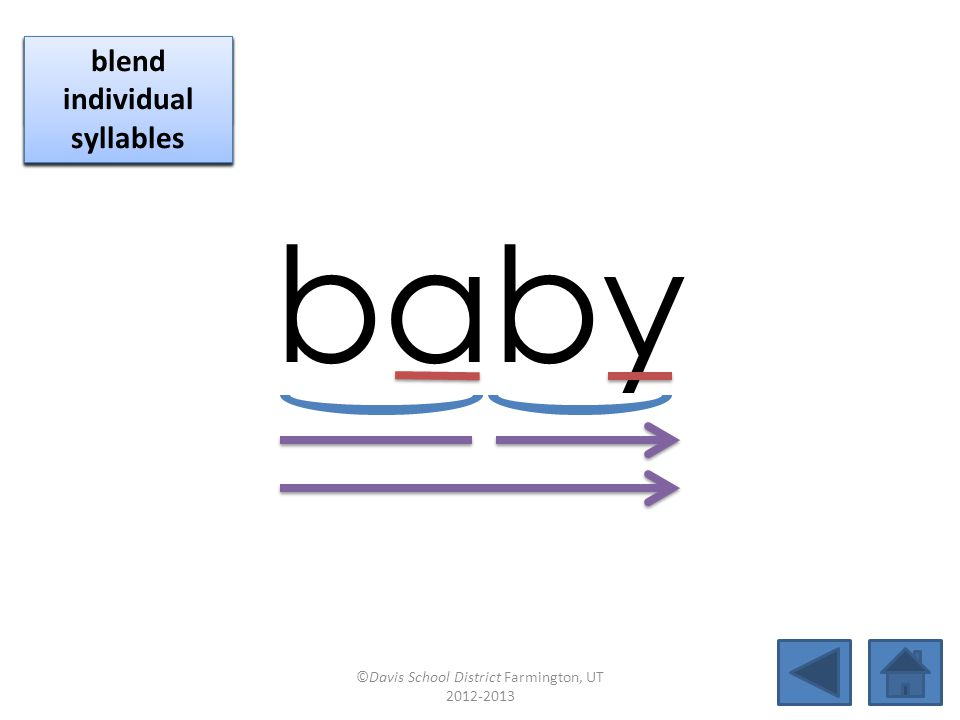 baby click per vowel blend individual syllables