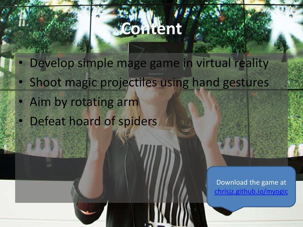 Myo + Oculus Rift Tutorial - ppt download