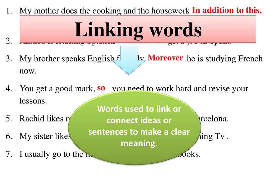 Grammar Linking words Teacher : M  MOUHARIR - ppt download