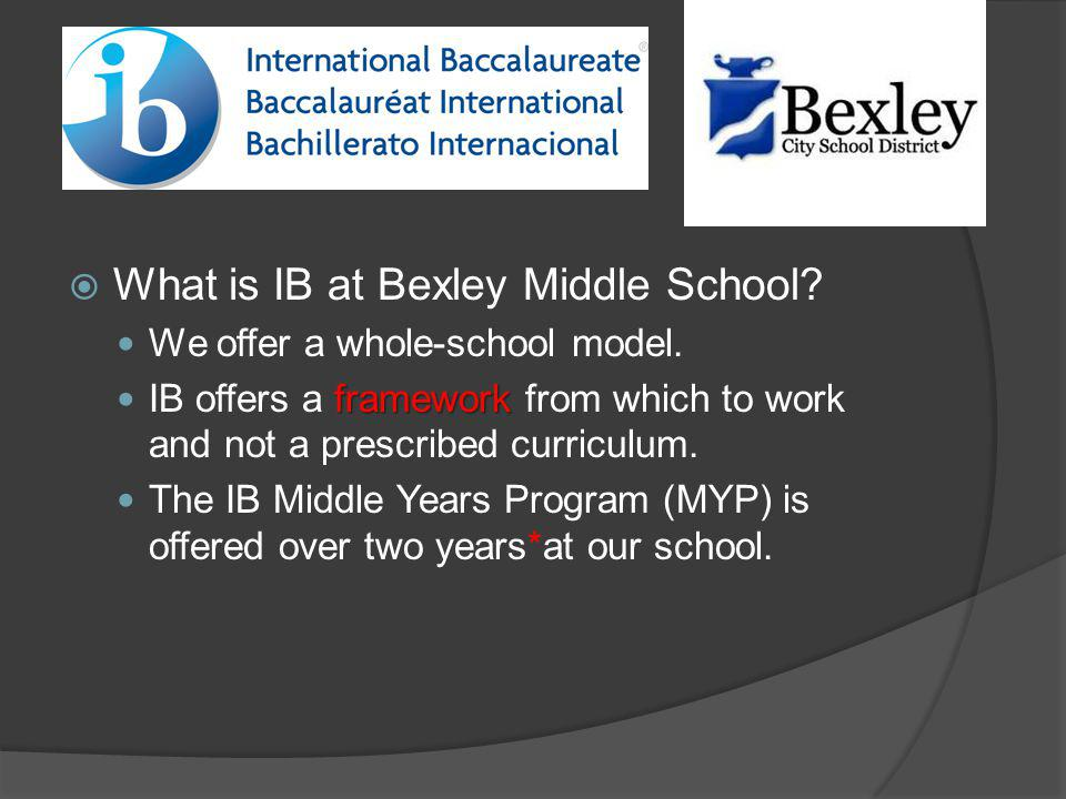 What is IB at Bexley Middle School
