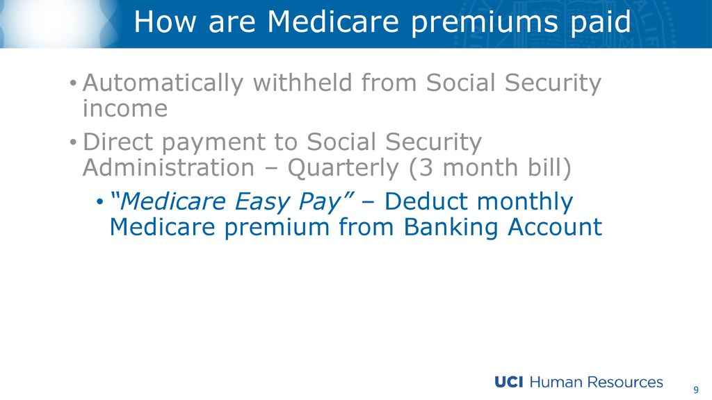 UC Retiree Health and Medicare - ppt download