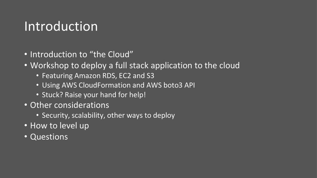 Deploying Your First Full Stack Application to the Cloud