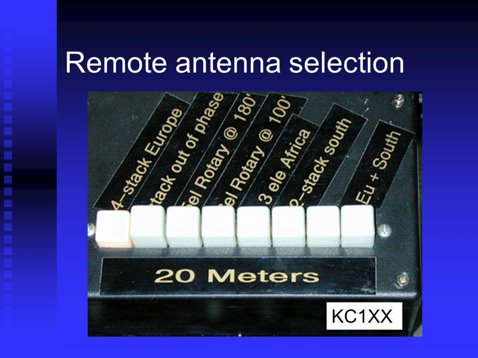 Remote antenna selection