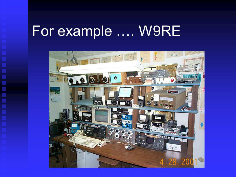 For example …. W9RE As everyone knows, Mike's been at the complex station game a long time.