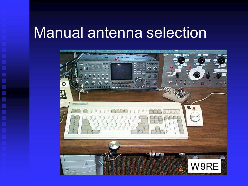 Manual antenna selection