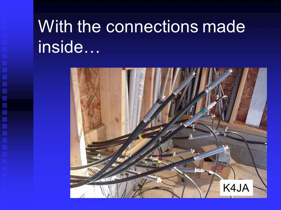 With the connections made inside…