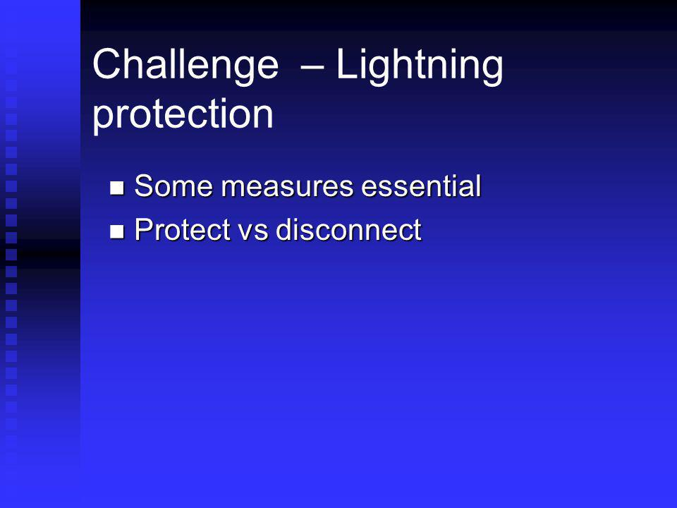 Challenge – Lightning protection