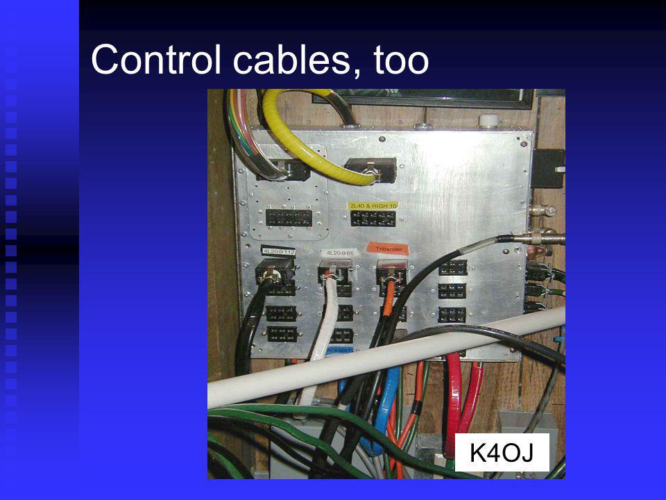 Control cables, too Color coding helps keep things straight K4OJ