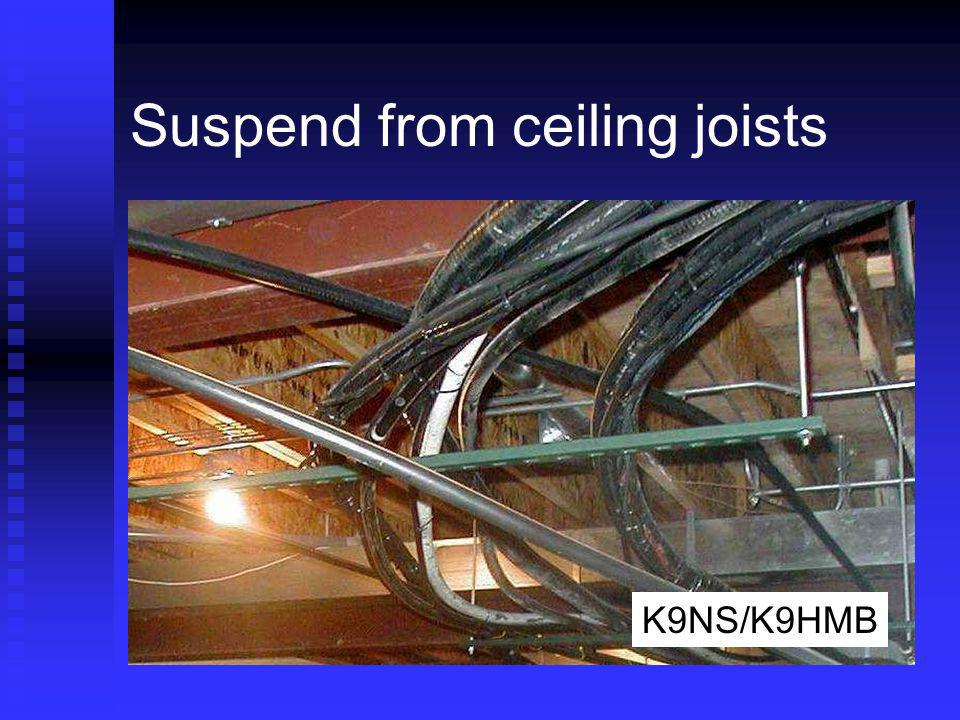 Suspend from ceiling joists