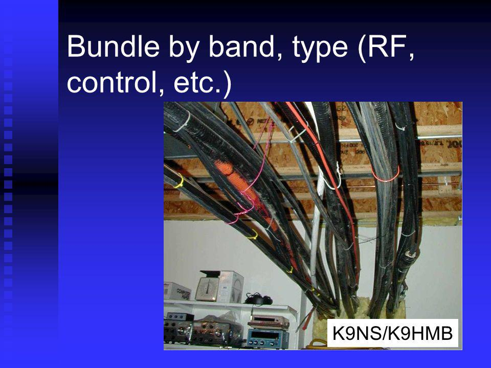 Bundle by band, type (RF, control, etc.)