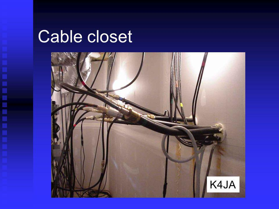 Cable closet Rigs to left, coax entry from right – 34 wide K4JA