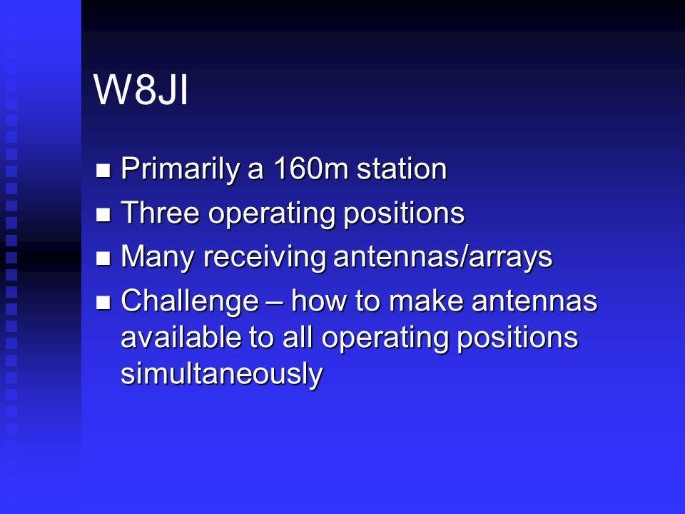 W8JI Primarily a 160m station Three operating positions